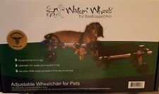 Walkin Wheels Small Dog Wheelchair  Never Used With Extra Accessories