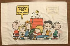 PEANUTS Charlie Brown Snoopy Pillowcase Happiness Being One of Gang 1971 Sears