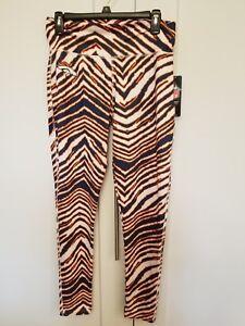 NWT Majestic Fan Fashion NFL Denver Broncos Zebra Leggings Tights Pants Large