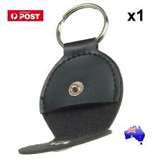 1x Guitar Picks Holder Keychain Black Leather Plectrum Case Bag