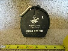 Beverly Hills Polo Club Classic Boys Kids Belt Black with silver buckle Large
