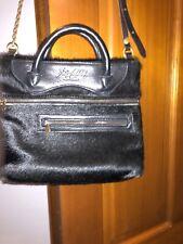 Jas M.B.London Black Leather Trimmed Ponyhair Tote Bag Crossbody Satchel