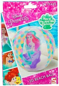 Licensed Disney Character 3D Princess Inflatable Beach Ball Kids Summer Gift 2+Y
