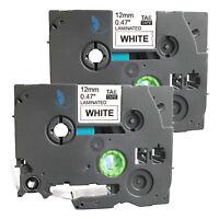 2 New Label Tape for Brother PT 1010 1090 1120 1130 11Q 1280 SR 1290 BT 9800PCN