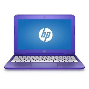 HP STREAM PURPLE 4GB MEMORY 32GB HARD DRIVE WINDOWS 10 VIRTUAL CLASSES LAPTOP