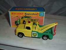 MATCHBOX SUPERFAST #13d DODGE BP WRECK TRUCK TOW HOOK ON THE WRONG WAY ERROR