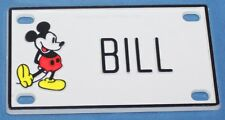 Vintage Walt Disney Prod. Mickey Mouse Bill Plastic Name License Plate