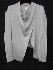 HELMUT LANG Grey Draping Front Waterfall 2 Way To Be Worn Stylish Jacket