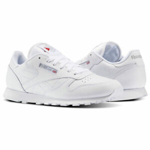[50150] Kids Reebok Classic Leather Junior Sneaker - White