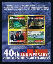 Samoa 2015 Diplomatic Relations with China Postage Stamp Issue