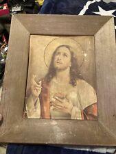 New Listingantique oil painting jesus