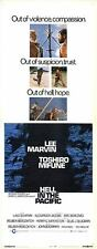 HELL IN THE PACIFIC orig 1968 14x36 WW2 movie poster LEE MARVIN/TOSHIRO MIFUNE
