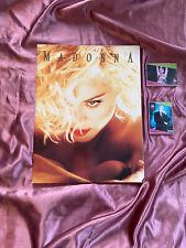 "Madonna"" Blond Ambition"" 1990 World Tour Book BONUS / RARE CARDS /POSTER BOOK"