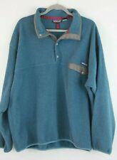 Vintage 1990's Patagonia Synchilla Men's Blue Snap-T Pullover Fleece Jacket XL