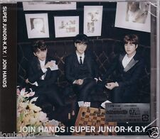 New SUJU SUPER JUNIOR K.R.Y. JOIN HANDS First Limited Edition CD Card Japan F/S