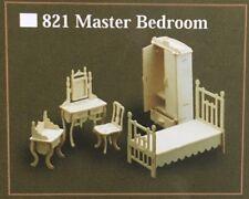 Maestro de escala 1/12th sistema de dormitorio Muebles, Casa De Muñecas Miniaturas