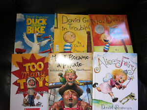 Lot 6 Books David Shannon Duck Bike David No David Alice Fairy Pirate Many Toys