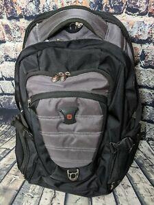 """SwissGear Black Heavy Duty Backpack School Hiking 16"""" Laptop Pocket Carry-On Bag"""