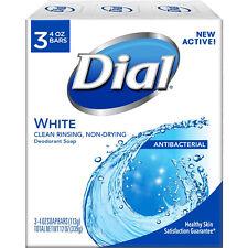 Dial Antibacterial Deodorant Soap 4oz Bars White 3 Each