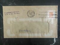 1957 Hong Kong Commercial Window Cover Fifteenth Exhibition Cancel