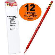 Prismacolor COL-ERASE Erasable Colored Pencills 20064, Orange, Box of 12