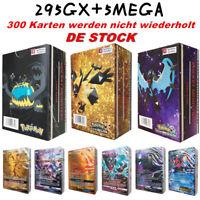 NEUE 300 STÜCKE Original 295GX+5MEGA Pokemon Karte Pokemon Nicht wiederholen