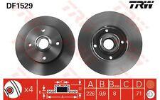 TRW Juego de 2 discos freno Trasero 226mm VOLKSWAGEN GOLF SEAT TOLEDO DF1529