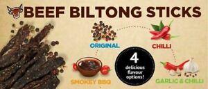 """Beef Biltong Snapsticks (""""Stokkies"""") - Lekker! - 4 Flavour choices"""