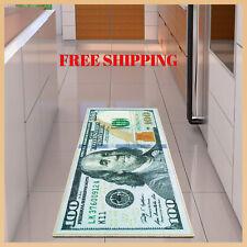"""Money Runner Rug 100 Dollar Bill 22"""" x 53"""" Non Slip Home Floor Decor Carpet NEW"""