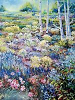 Jeannie St. John Taylor Morning Meadow Art Print 24x18 Signed & Numbered 83/200