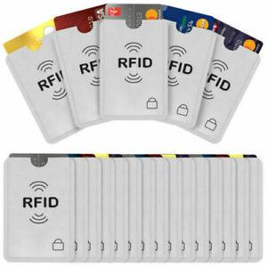 5 RFID Sleeve Debit/Credit Card Protector Contactless Blocking Wallet Holder