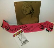 Madonna Who's That Girl Concert Program Tour Book 80s Scarf Shawl Banner 1987