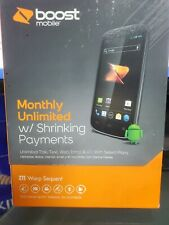 ZTE Warp Sequent N861 - 4GB - Black (Boost Mobile) Smartphone sealed new