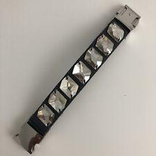 NEW Urban Outfitters Faux Diamond Shiny Stones Leather Velcro Bracelet Unisex