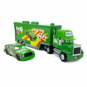 Disney Pixar Cars 86 Chick Hicks Mack Truck & Car 1:55 Diecast Toys Car Loose