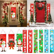 Decoración de Navidad para el hogar porche signo Puerta Decorativa Banner Colgante Ornamento