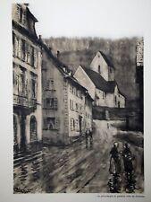 c71-85 Gravure contes & récits d'Alsace Judt, célèbre brigan Sundgovien Blumer