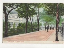 Museum & New Walk Leicester Vintage Postcard 630a