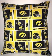 IOWA Pillow Iowa Hawkeyes University Pillow NCAA HANDMADE IN USA
