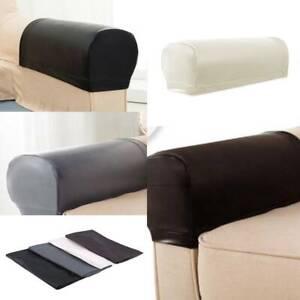 Durable Leather Sofa Armrest Covers Dustproof Waterproof Protector 2Pcs/Set C