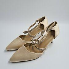 Studio Womens Pump Heels Pointed Toe Shoes Champaign Size UK 7 (EU 40) - NEW