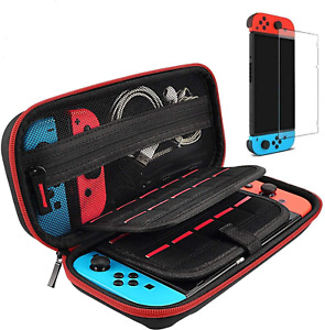 Hestia Goods Switch Case and Tempered Glass Screen Protector for Nintendo Switch