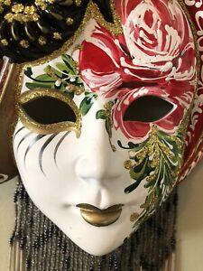 Hand Painted Beautiful Lady Face Mask Wall Art Wall Hanging