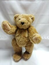 """Vermont authentic teddy bear stuffed plush jointed golden brown 15 1/2"""""""