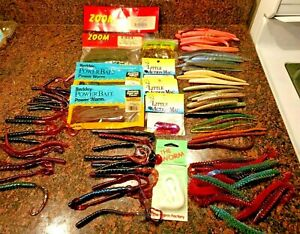 Large Lot Of Rubber Worms - mix of colors size type brand