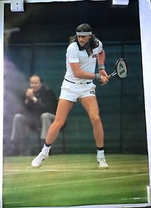 Bjorn Borg Action Vintage Tennis Poster