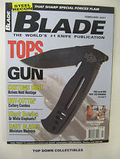 The Blade  Magazine  February 2001 What Are Miniature Knives?/James Black Knives