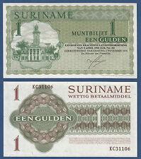 SURINAM / SURINAME 1 Gulden 1974 UNC P.116 d