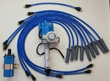 Pontiac 350 400 455 Small Female Cap Hei Distributor 85mm Wires Blue Coil Fits Pontiac