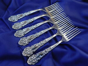 REED & BARTON FRENCH RENAISSANCE STERLING SILVER DINNER FORK - EXC COND S